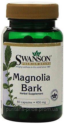 Кора Магнолии SWANSON MAGNOLIA BARK 400 MG 60 CAPS, фото 2