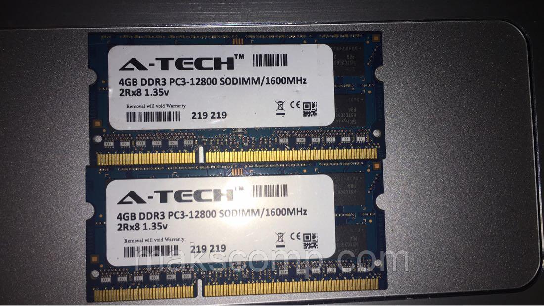 A-TECH 4GB DDR3-1600 PC3L-12800 SODIMM