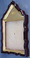 Фигурный киот для иконы с внутренней золочёной рамой., фото 2