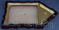 Фигурный киот для иконы с внутренней золочёной рамой., фото 5