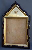 Фигурный киот для иконы с внутренней золочёной рамой., фото 4