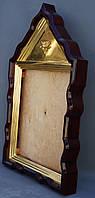 Фигурный киот для иконы с внутренней золочёной рамой., фото 3