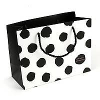 Подарочный пакет 19.5 х 14.5 х 8.5 см More simple More happiness белый