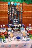 Кэнди бар для свадьбы в сине-белых тонах, фото 2