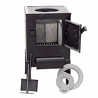 Печь дровяная КВД-100 с чугунной варочной поверхностью (обогрев до 40 м2/100 м3)