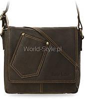 04-19 Коричневая мужская сумка Hazira