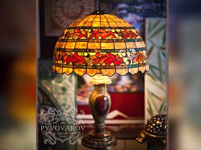 Витражные светильники из кусочков цветного стекла