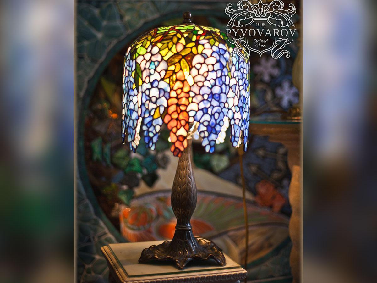 Настольная лампа Тиффани Глициния
