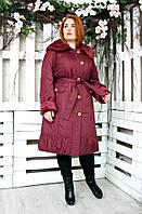 Плащ женский большого размера Вельбо 018 (2 цвета), демисезонное пальто большого рзмера