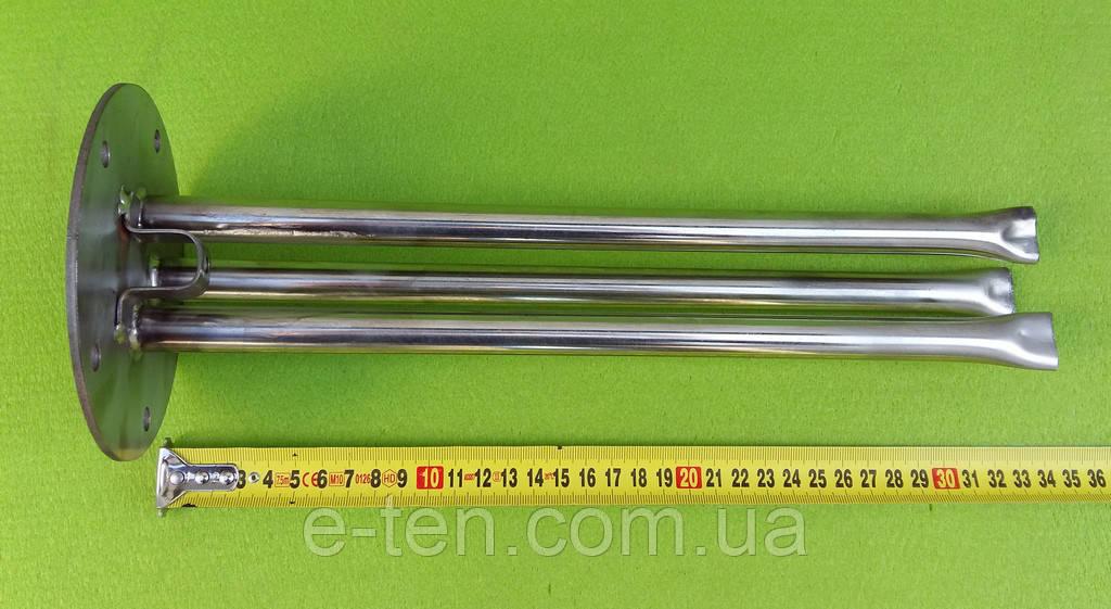 Фланець-колба Ø125мм під сухі тени для бойлерів Galmet (повністю з нержавіючої сталі) / 5 отворів