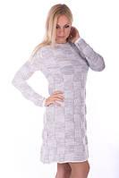 Вязаное платье — тепло и модно