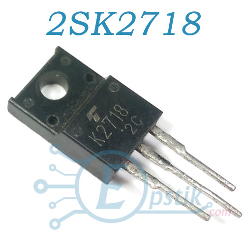2SK2718, MOSFET транзистор N канал, 900В, 2.5А, TO220F