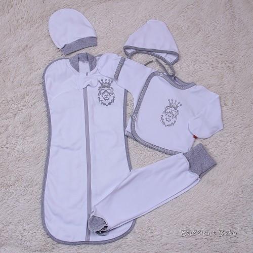 Комплект для новорожденных Leos (белый)