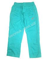 Бирюзовые трикотажные спортивные штаны для девочек 98см, Венгрия
