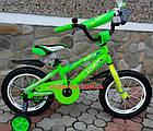 Детский велосипед Azimut Stitch 14 дюймов зеленый, фото 3