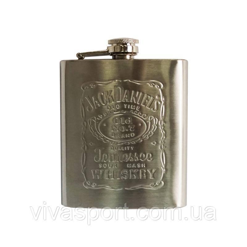 Фляга для алкоголя 0,2 л. Jack Daniel's, фляга Джек Дэниэлс