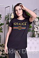 """Женская футболка с принтом """"GUCCI"""", в расцветках, фото 1"""
