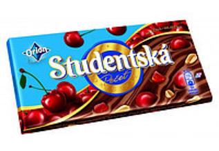 Шоколад Orion Studentska молочный с вишней и арахисом 180г