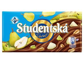 Шоколад Orion Studentska молочный с арахисом и грушей 180 г