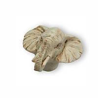 """SIRH-104-49-A38 Ручка кнопка декор """"Голова слона"""", слоновая кость"""
