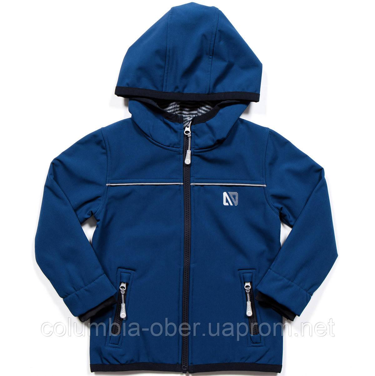 Демисезонная куртка для мальчика SOFTSHELL NANO 1400 M S18 Dk Denim. Размеры 100-144.