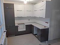 Кухня на заказ с фасадами cleaf , фото 1