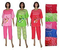 Пижама женская летняя с бриджами 03211 Регина большого размера, р.р.54-62