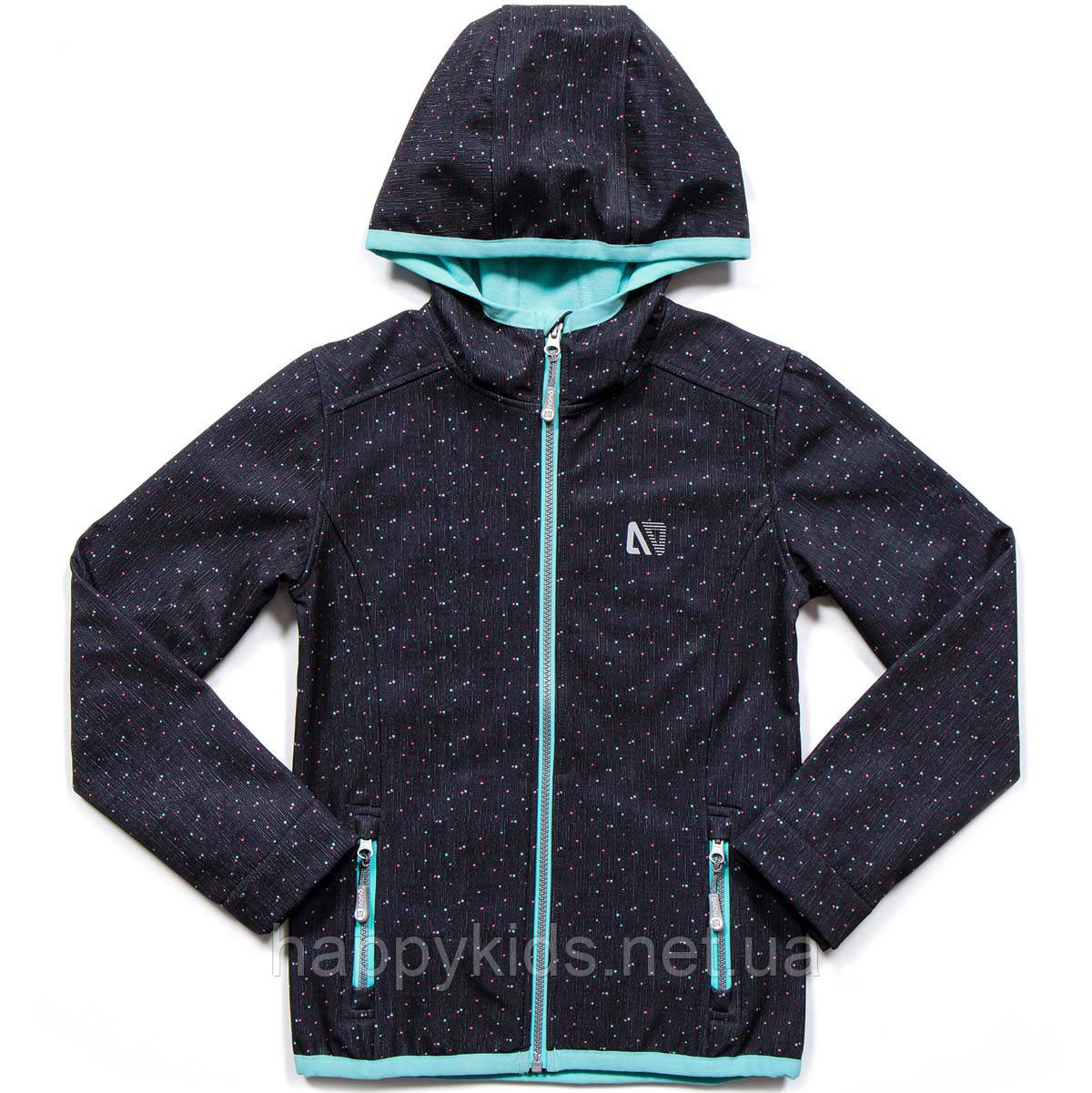 Демисезонная куртка для девочки SOFTSHELL NANO 1400 M S18 Dk Mouse Confe. Размер 100-144.