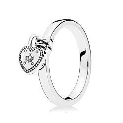 Серебряное кольцо Замок любви