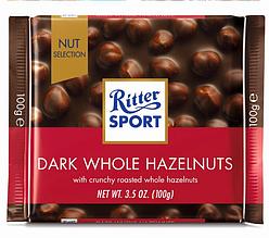 Шоколад  Ritter Sport Dunkle Voll-Nuss черный с орехом 100 г