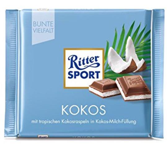 Шоколад Ritter Sport молочный кокос 100 г, фото 2