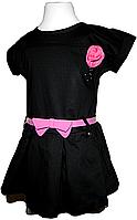"""Детское черное классическое платье """"строгое кокетство"""", фото 1"""
