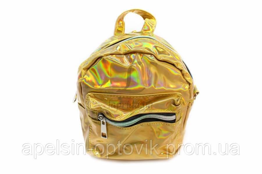 48b0aebc3091 Женский рюкзак с голографическим эффектом Alkanna, форма  овальная, на  молнии, 2 отделения