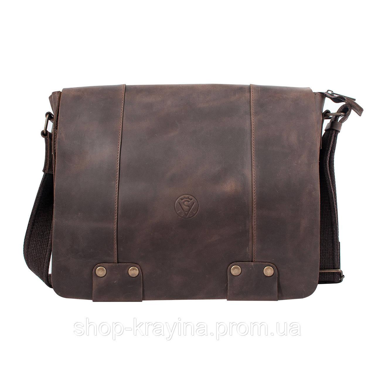 Кожаная сумка VS78 crazy horse 33х28х9 см