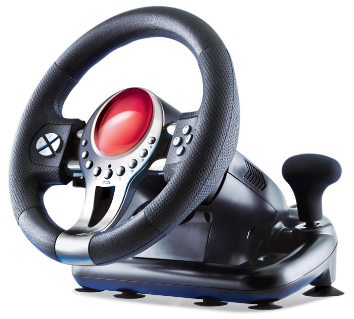 Игровой руль Sven TURBO Black, c педалями, для компьютера пк ігровий р