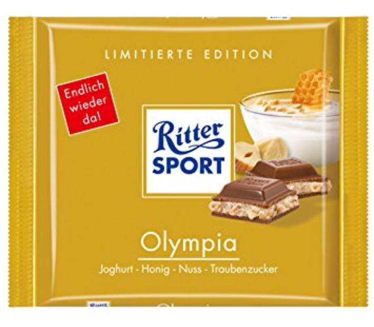 Шоколад Ritter Sport Olympia йогурт+мёд+фундук 100 г