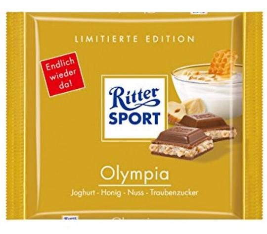 Шоколад Ritter Sport Olympia йогурт+мёд+фундук 100 г, фото 2