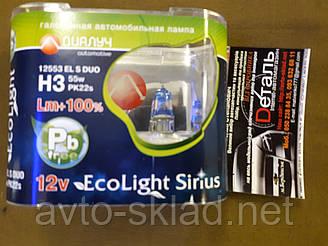 Лампы авто Н3 12V 55W EL S +100% комплект