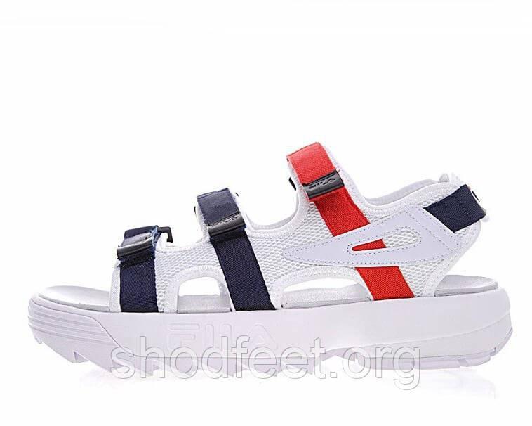Женские сандалии Fila Disruptor II SD White Navy Red