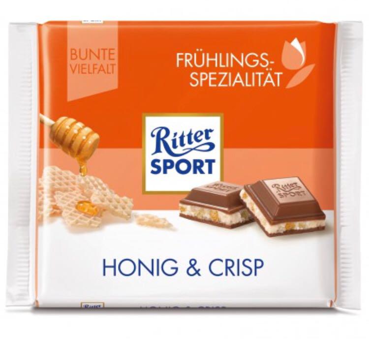 Шоколад Ritter Sport Honig&Crisp молочный 100 г