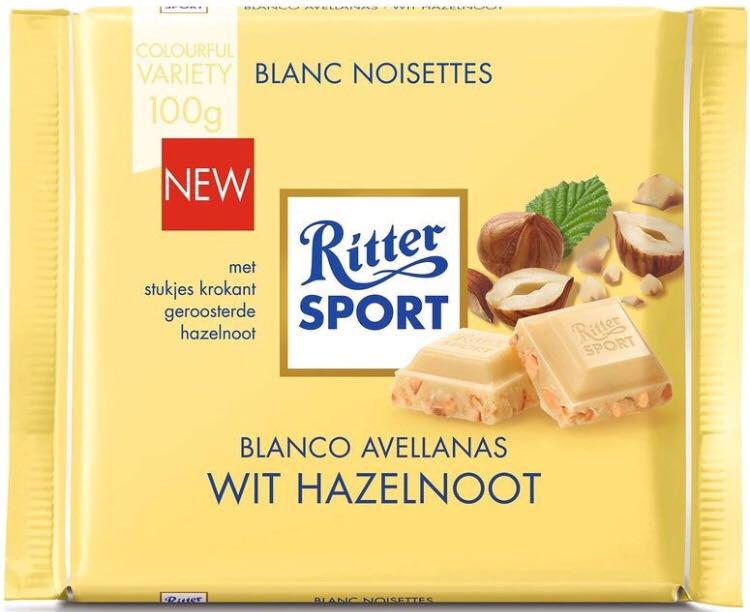 Шоколад Ritter Sport White Hazelnuts белый с орехом 100 г