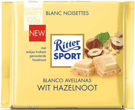 Шоколад Ritter Sport White Hazelnuts белый с орехом 100 г, фото 2