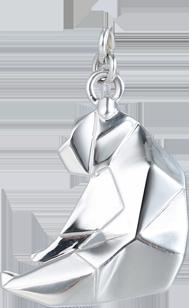 Серебряные подвески в стиле оригами Медведь