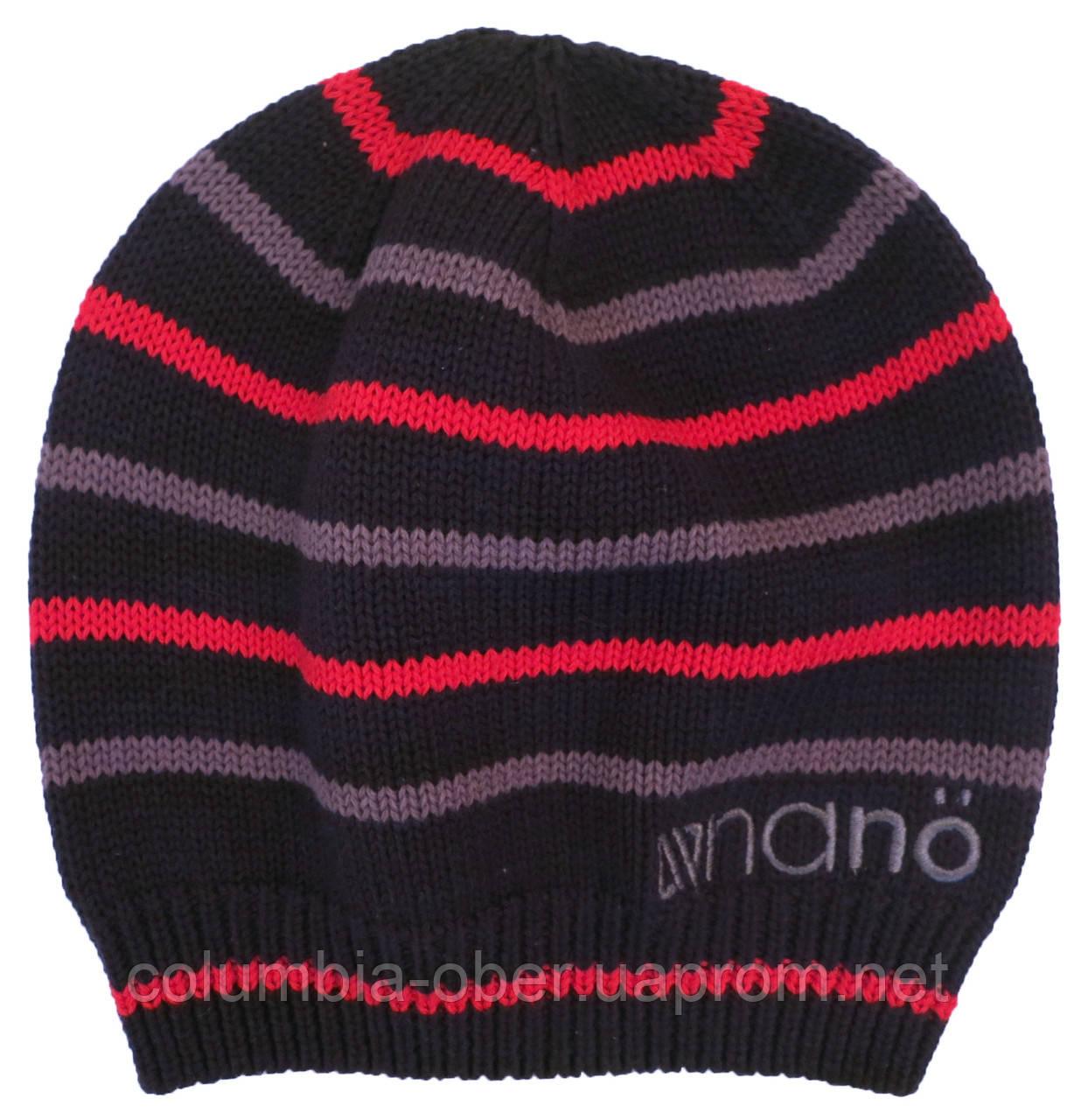 Демисезонная шапка для мальчика NANO 251 TUT S18 Smokey Gray. Размер 12/24-7/12.