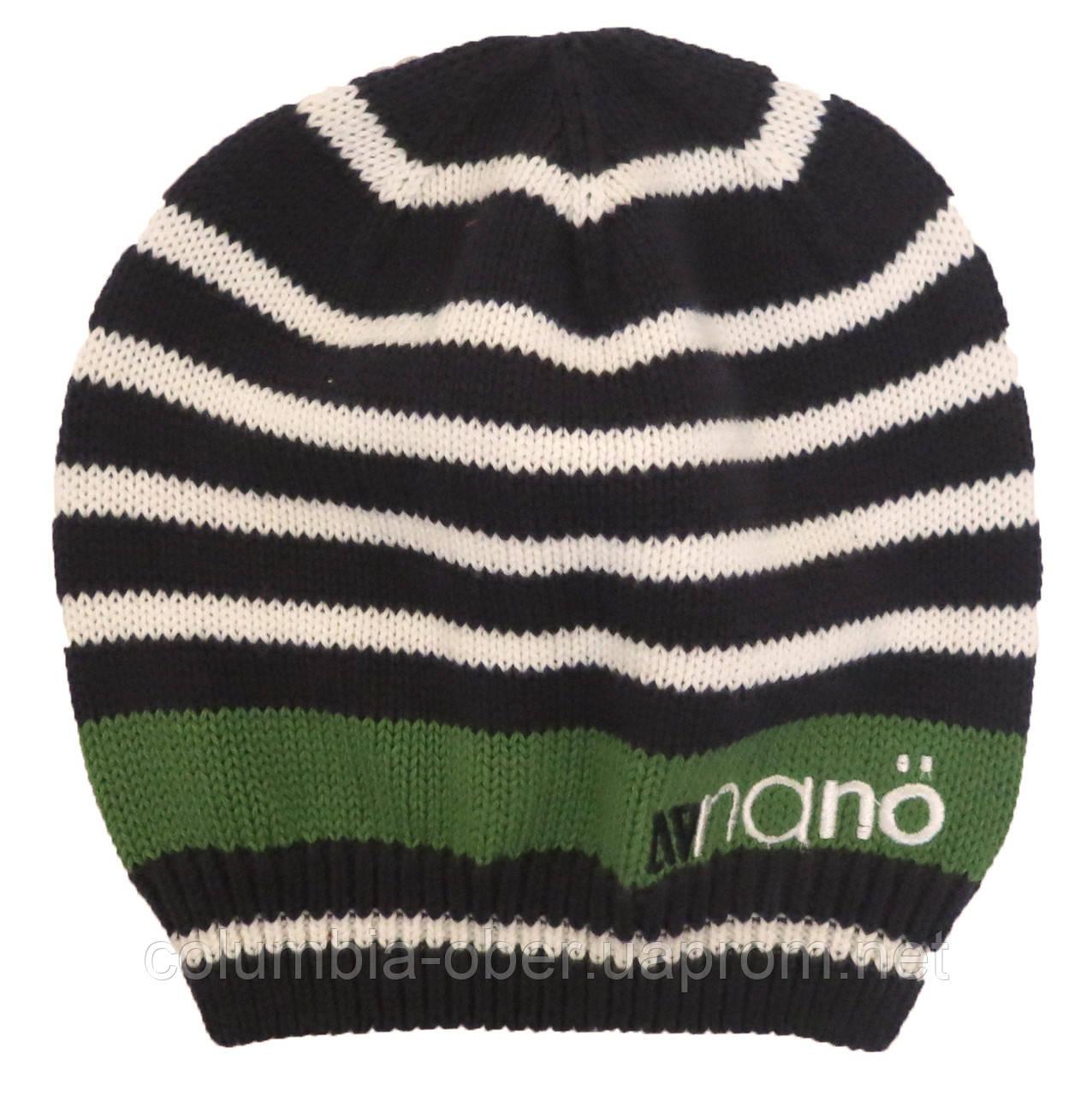 Демисезонная шапка для мальчика NANO 259 TUT S18 Dk Heaven. Размер 12/24-7/12.