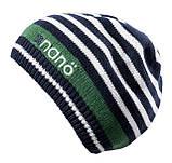 Демисезонная шапка для мальчика NANO 259 TUT S18 Dk Heaven. Размер 12/24-7/12., фото 2