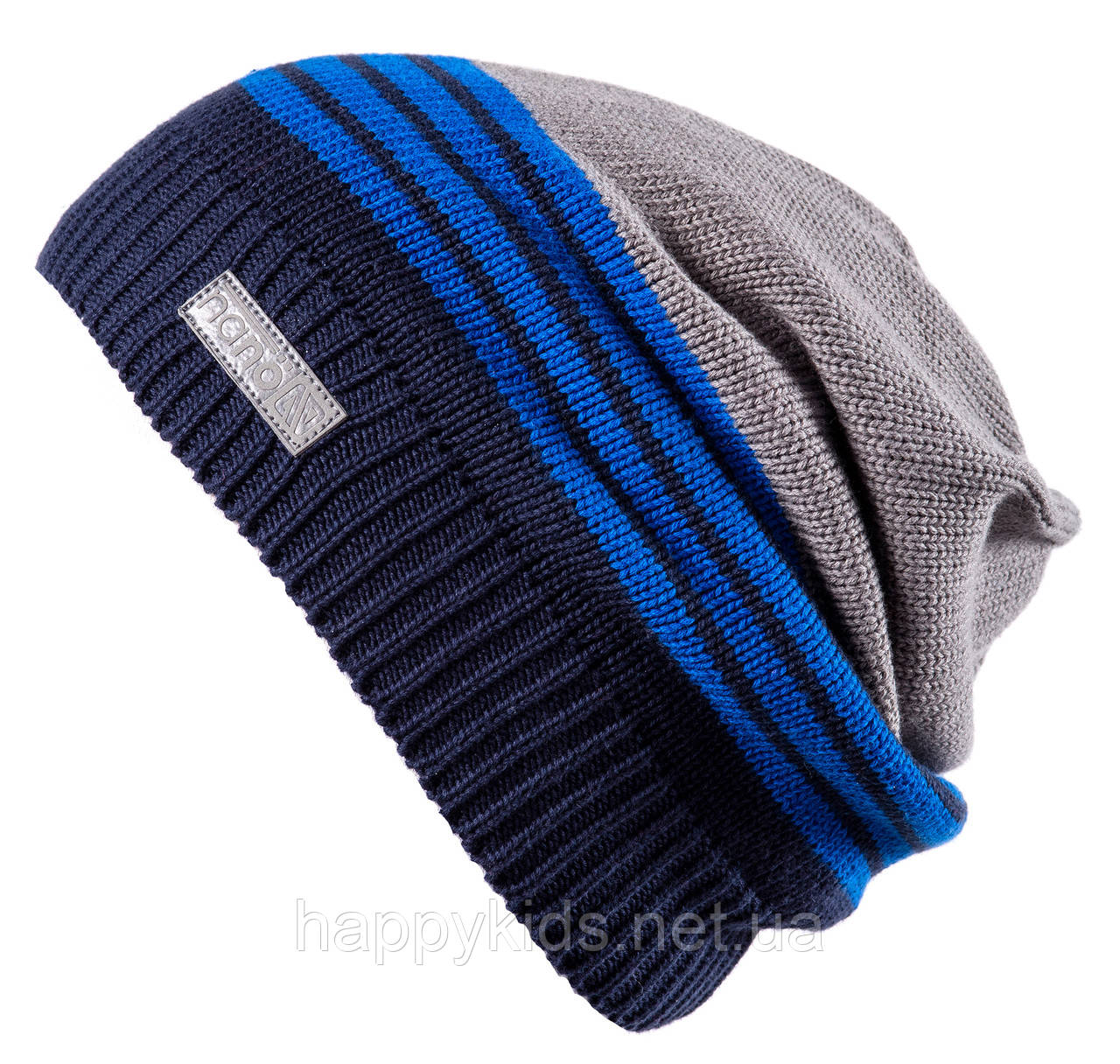 Демисезонная шапка для мальчика NANO 269 TUT S18 Navy. Размер 12/24-7/12.