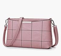 Небольшая женская сумка розовая код 3-363