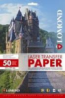 Термотрансферная бумага для лазерной печати, для светлых тканей, A4, 150 г/м2, 50 листов.