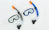 Набор для плавания маска с трубкой Zelart 138-50-4: термостекло, PVC, пластик, фото 1